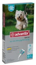 ADVANTIX® SPOT ON PER CANI DA 4 A 10 KG 4 PIPETTE DA 1 ML