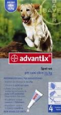 ADVANTIX® SPOT ON PER CANI OLTRE 25 KG 4 PIPETTE DA 4 ML