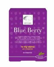 BLUE BERRY INTEGRATORE ALIMENTARE CON ESTRATTI DI MIRTILLO E LUTEINA - 120 COMPRESSE - New Nordic
