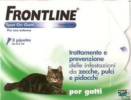 FRONTLINE SPOT ON GATTI 4 PIPETTE DA 0,5 ML