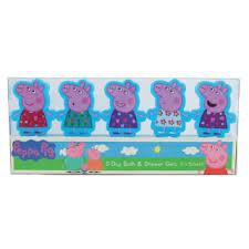 PEPPA PIG 5 DAYS BATH AND SHOWER GELS - SET DI 5 BAGNOSCHIUMA GEL - 5 x 50 ML